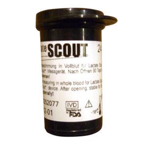 Lactate Scout 24 Tiras Reactivas, 24 Reactive Test Strips for Lactate Scout, 24 Bandes Reactives pour l'Analyseur Lactate Scout, 24 Teststreifen für den Lactate Scout