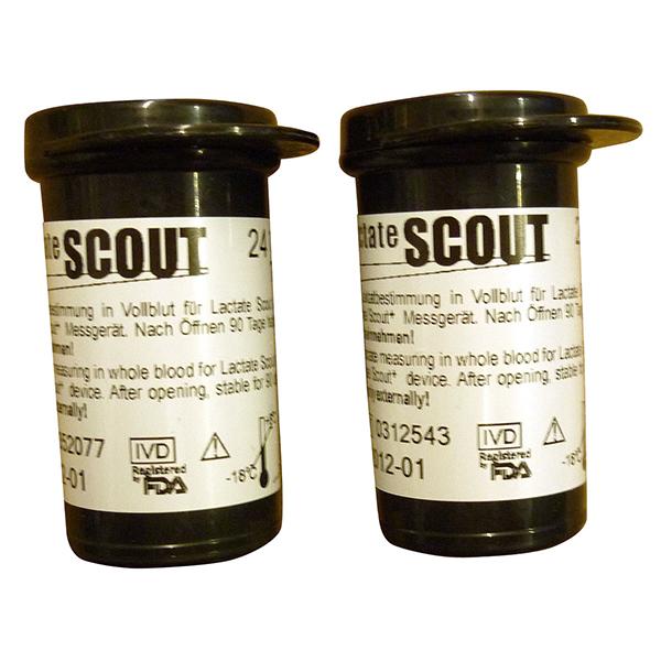 Lactate Scout 48 Tiras Reactivas, 48 Reactive Test Strips for Lactate Scout, 48 Bandes Reactives pour l'Analyseur Lactate Scout, 48 Teststreifen für den Lactate Scout