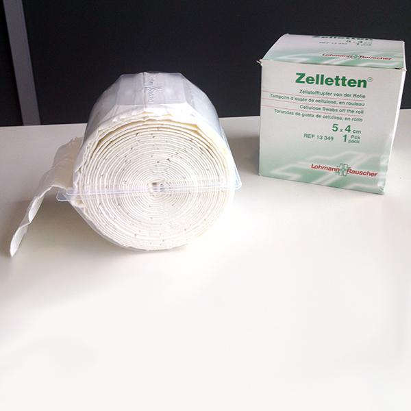 Esponjas de celulosa Zelletten, Zelletten Cellulose Swabs, Compresses Zelleten avec dérouleur, Zelletten Zellstofftupfer