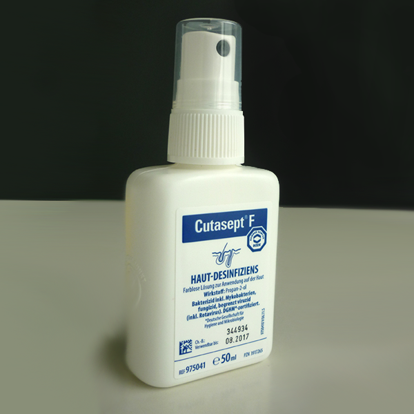 Spray desinfectante para la piel, Skin Disinfectant, Désinfectant cutané Cutasept, Hautdesinfektion
