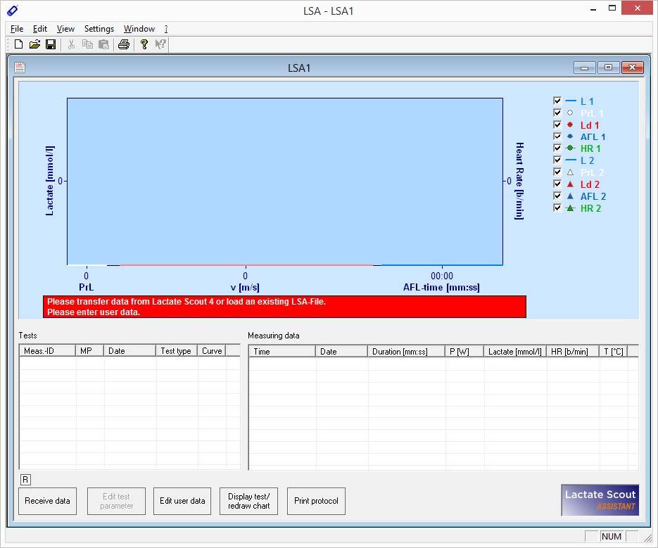 Información Sobre el Software Lactate Scout AssistantLaktate
