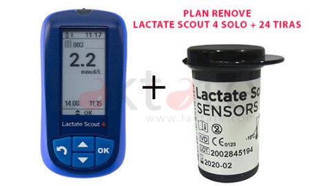 Plan Renove Lactate Scout 4 Solo + 24 Tiras Reactivas